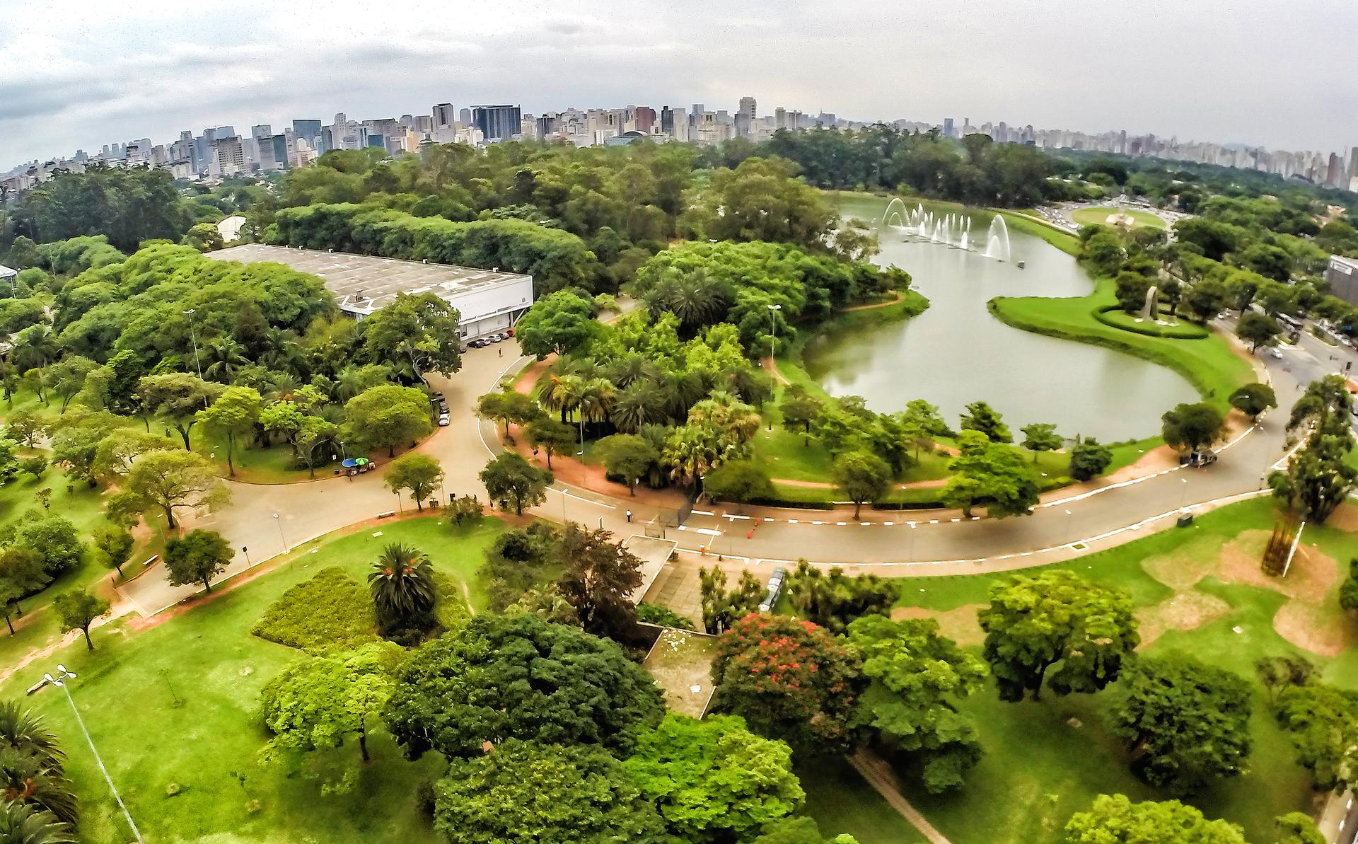 Vista do parque do Ibirapuera, um dos cartões-postais de São Paulo