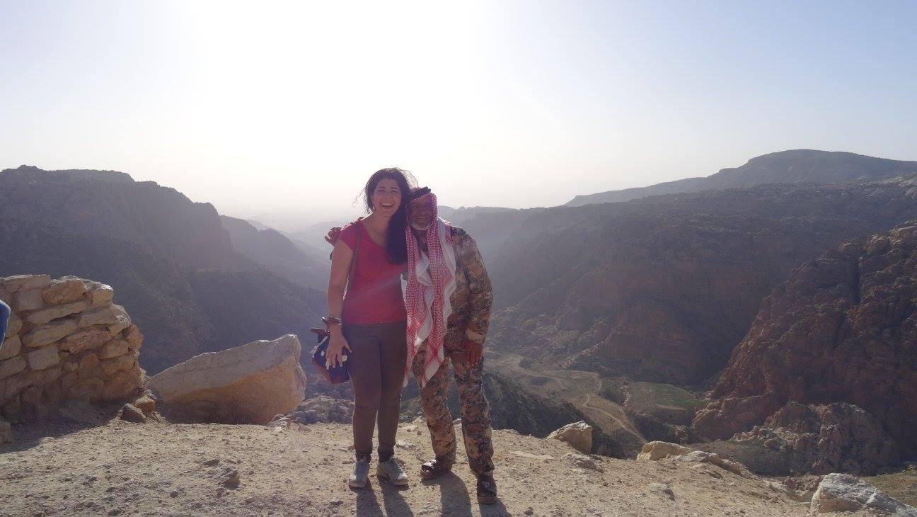 Roberta Clarissa, brasileira que reside atualmente na Jordânia