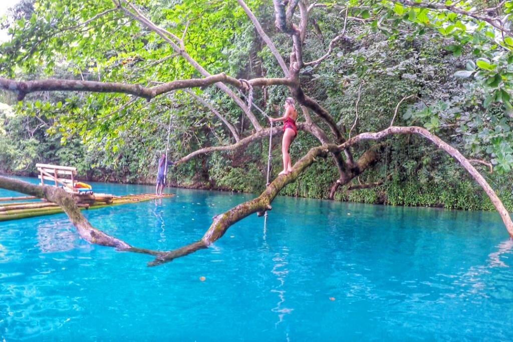 A Lagoa Azul em Port Antonio, Jamaica