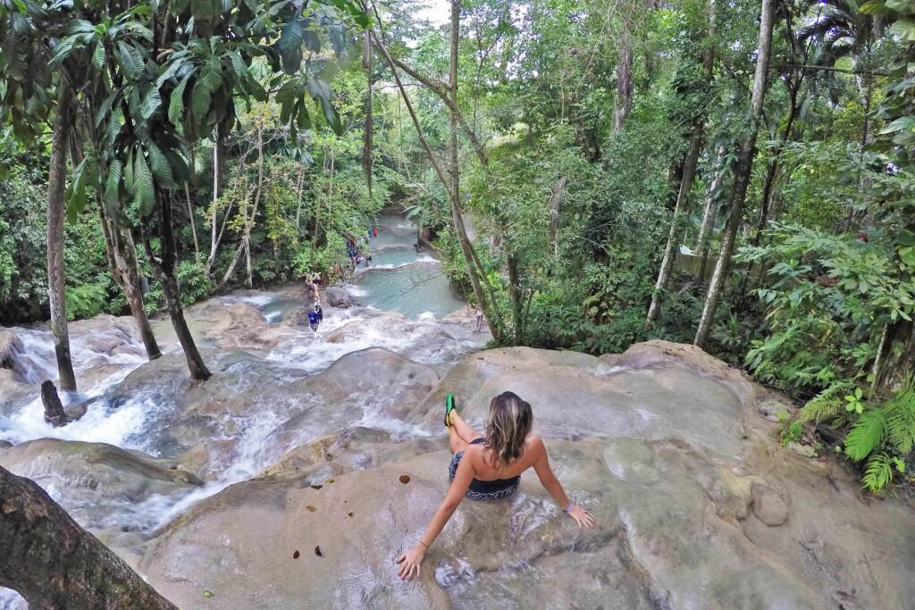 Dunn's River Falls em Ocho Rios, Jamaica
