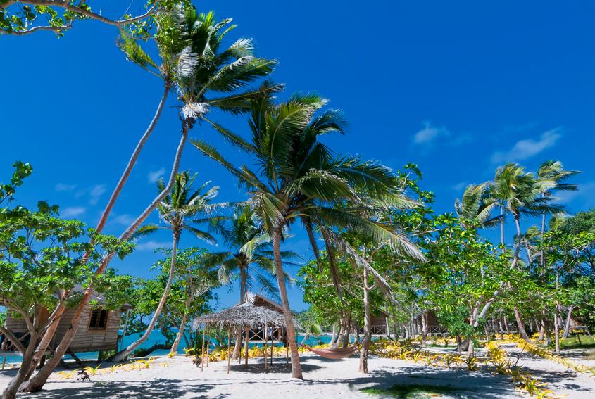 A wonderful resort in tropical paradise white sand beach