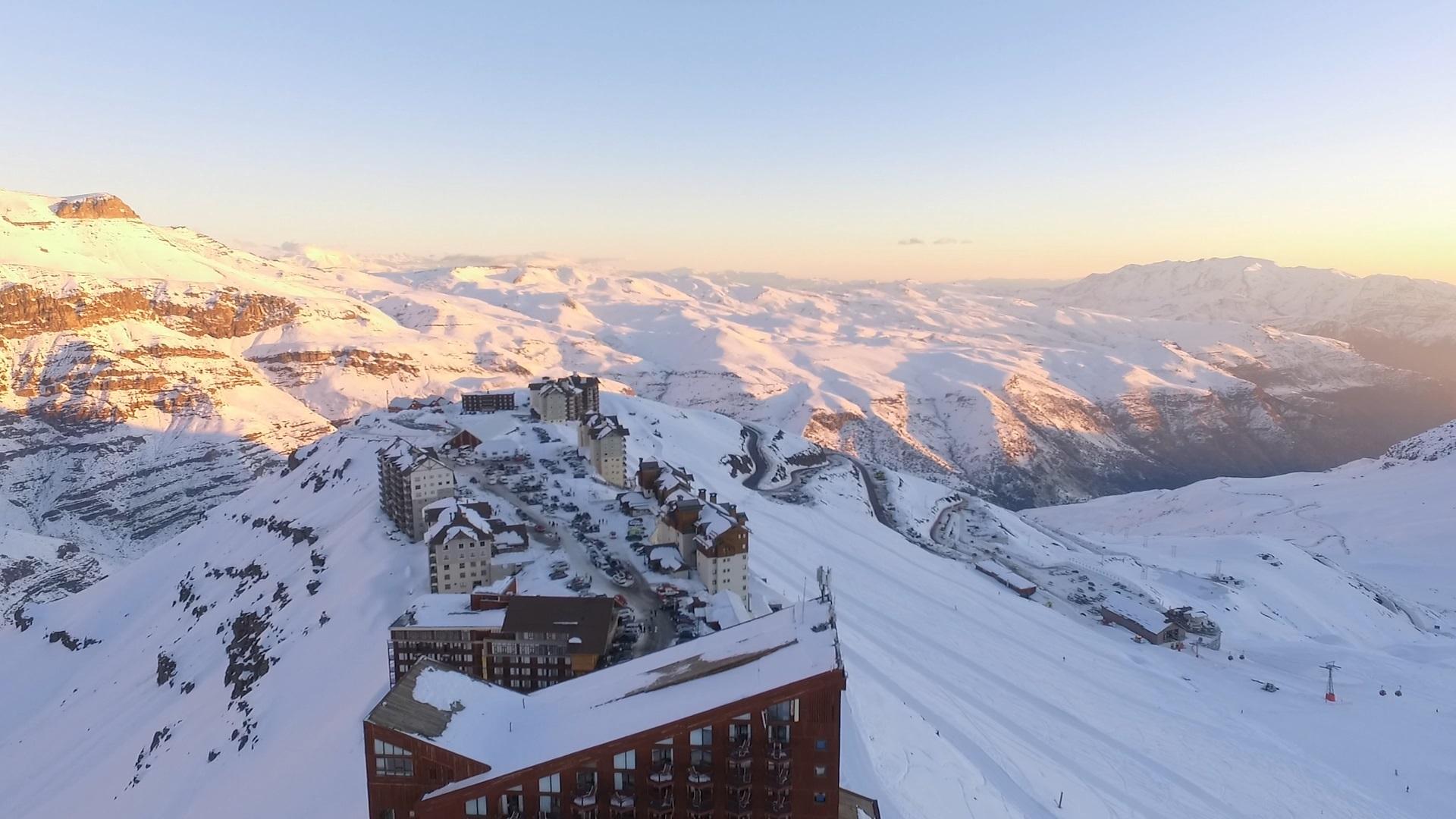 O Valle Nevado está numa posição privilegiada da Cordilheira dos Andes