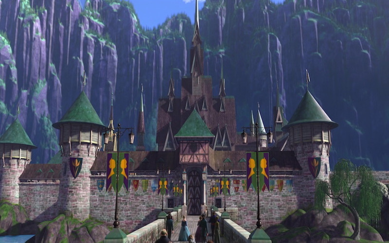 Castelo do filme Frozen. (Fonte: Disney Wikia)