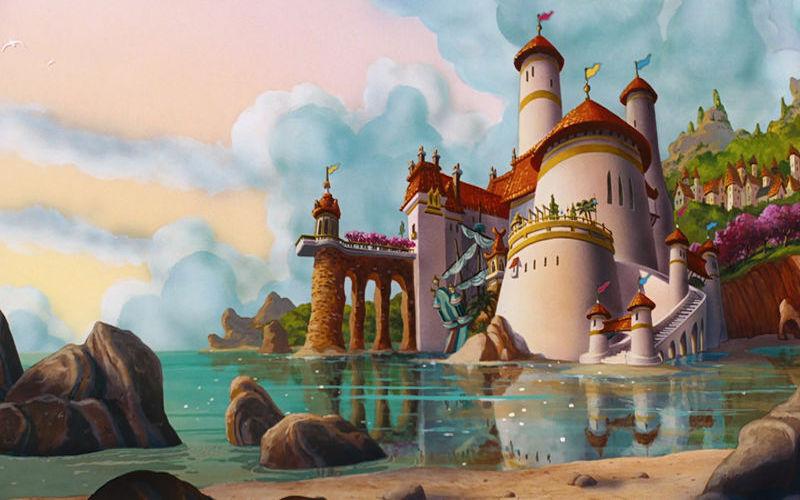Castelo do filme A Pequena Sereia. (Fonte: Wikimedia Commons)