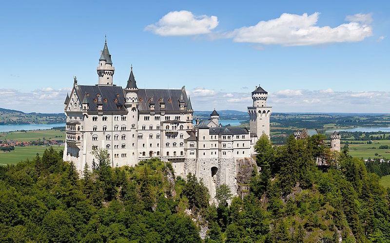 Castelo de Neuschwanstein. (Fonte: Wikimedia Commons)