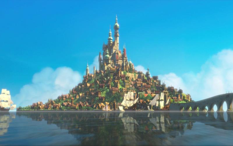 Cena do filme Rapunzel. (Fonte: Disney Wikia)