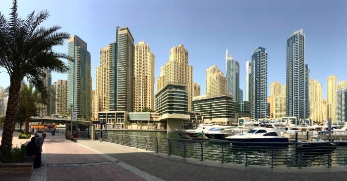 O impressionante skyline de Dubai