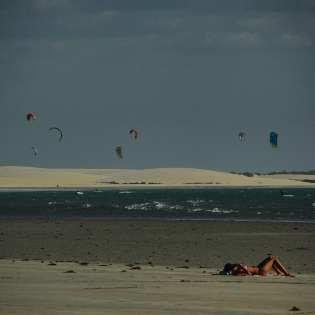 Praia Central, em Jericoacoara (CE), um dos destinos visitados pelo casal