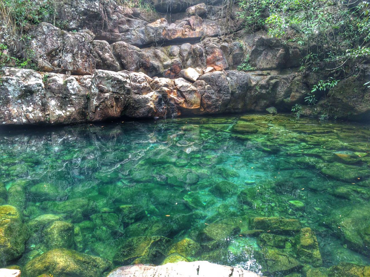 Poço Xamã, na cachoeira Loquinhas