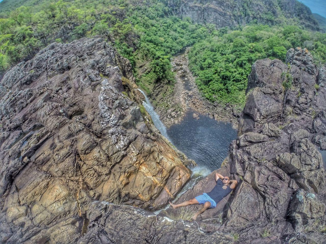 Cachoeira do Salto 1, que tem 120 m de altura