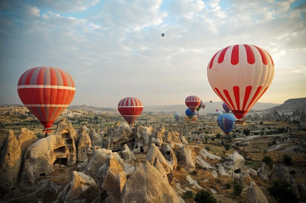 Os passeios de balão na Capadócia