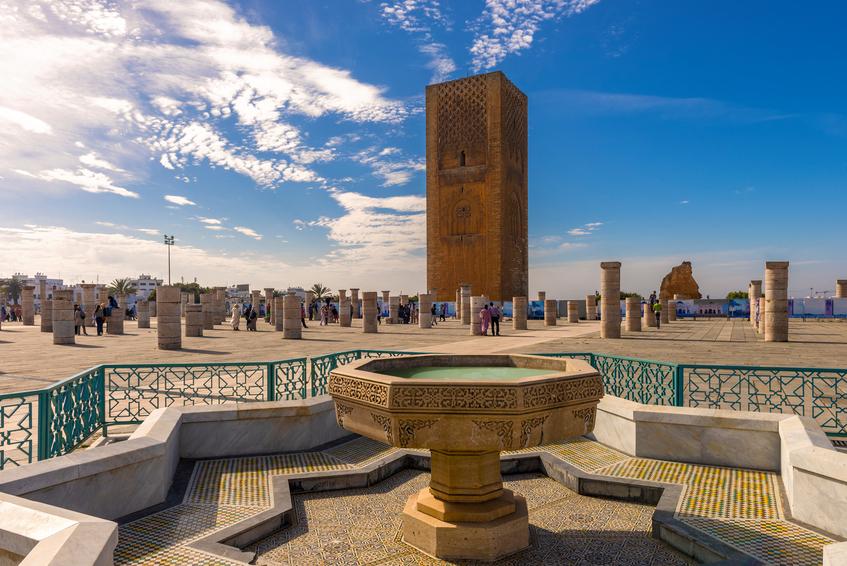 A Torre de Hassan, uma das atrações de Rabat, capital do Marrocos