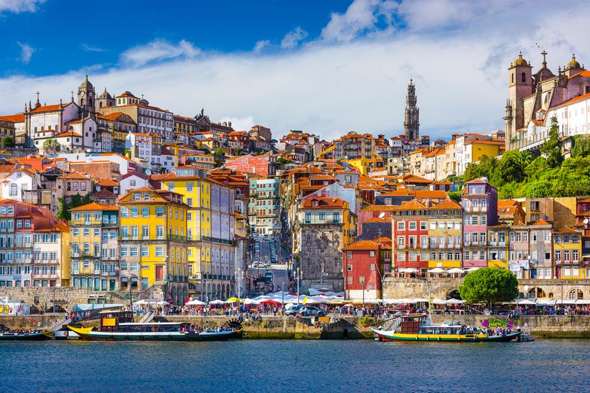 Vista da cidade velha de Porto, em Portugal