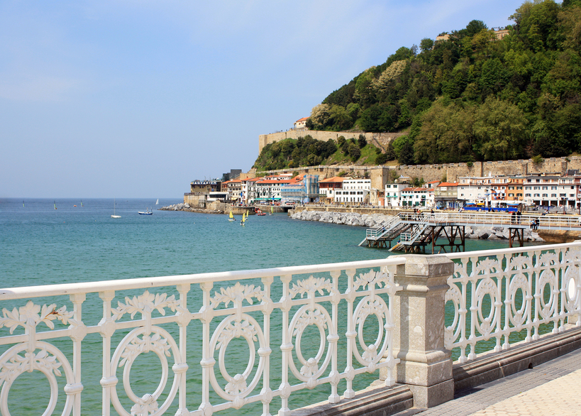 Vista de San Sebastian, no litoral espanhol
