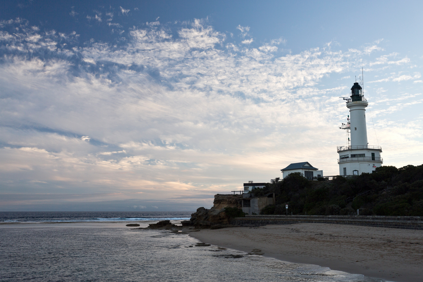 Point Lonsdale Lighthouse stands at the eastern end of the Bellarine Peninsula, on the western side of the entrance to Port Phillip from Bass Strait, in Victoria, Australia
