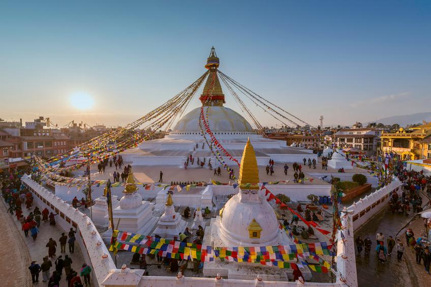 Templo em Kathmandu, capital do Nepal