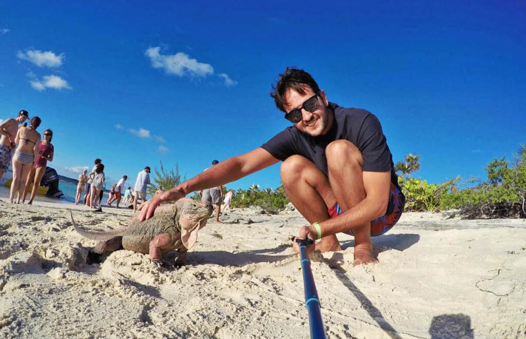 Simpáticas iguanas da Iguana Island - Exuma - Bahamas