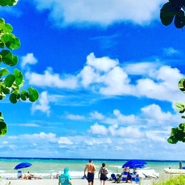 Mais um lindo dia de sol em Delray Beach