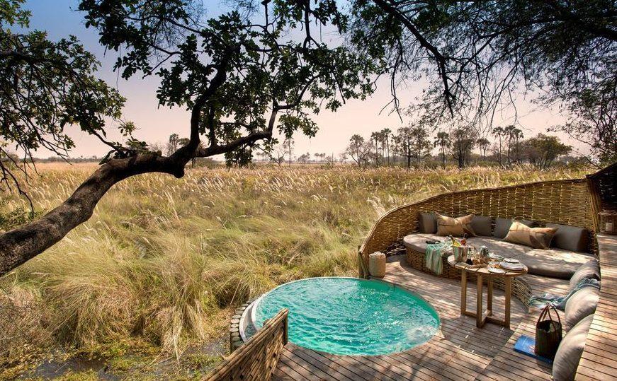 Lodge da AndBeyond em Botswana - Sandibe Okavango Safari Lodge