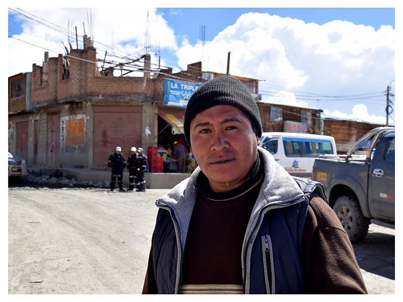 """""""Turpo"""" é um dos milhares de mineiros de La Rinconada. Ele garante que La Rinconada é a maior riqueza do Peru e teme pela privatização da mina"""