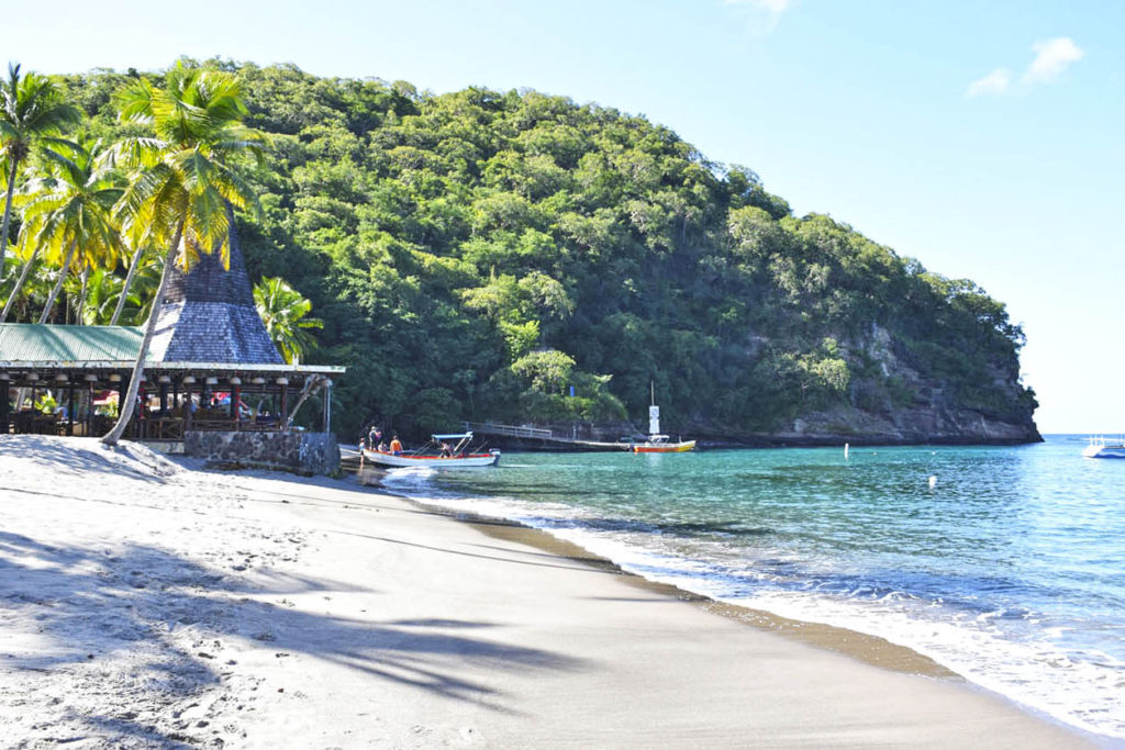 Praia Anse Chastanet em Saint Lucia