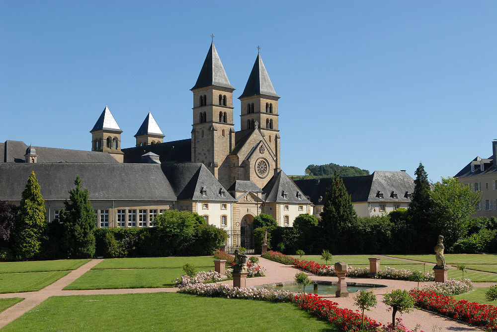 Vista da basílica de St. Willibrord, em Echternach