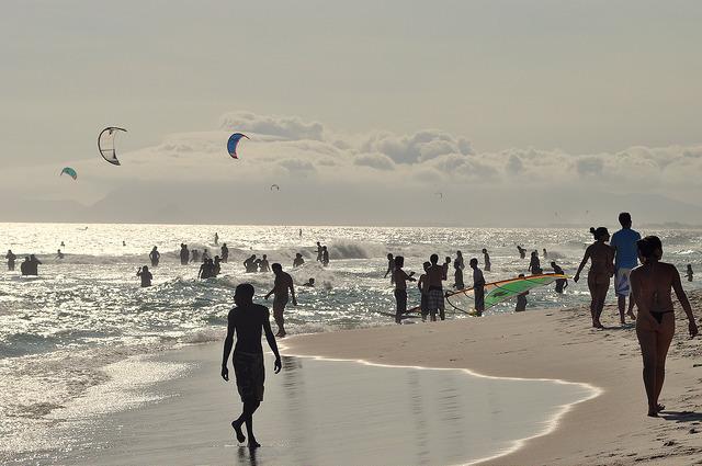 Kitesurf na praia do Pepê
