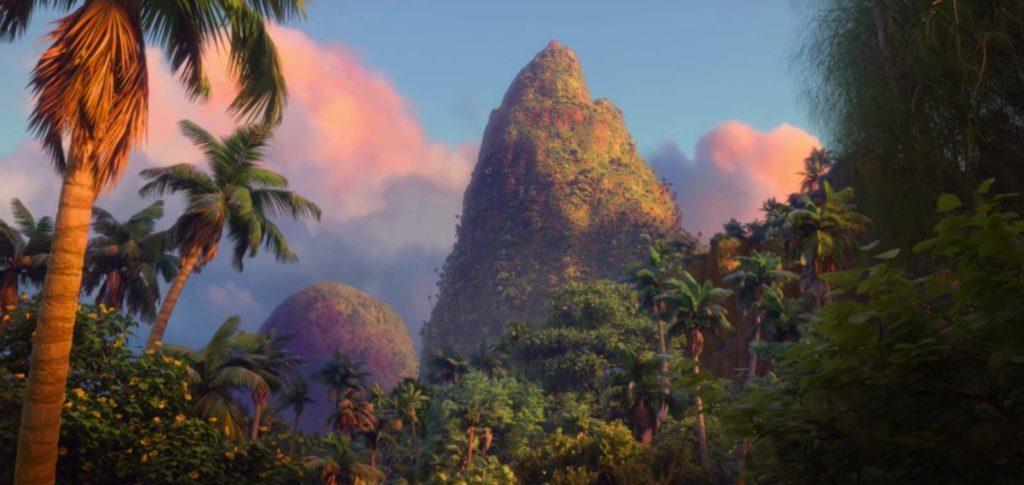 Cena do filme Moana – a ilha Motu Nui