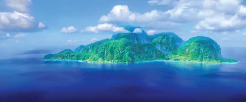 Cena do filme Moana – a ilha da deusa Te Fiti