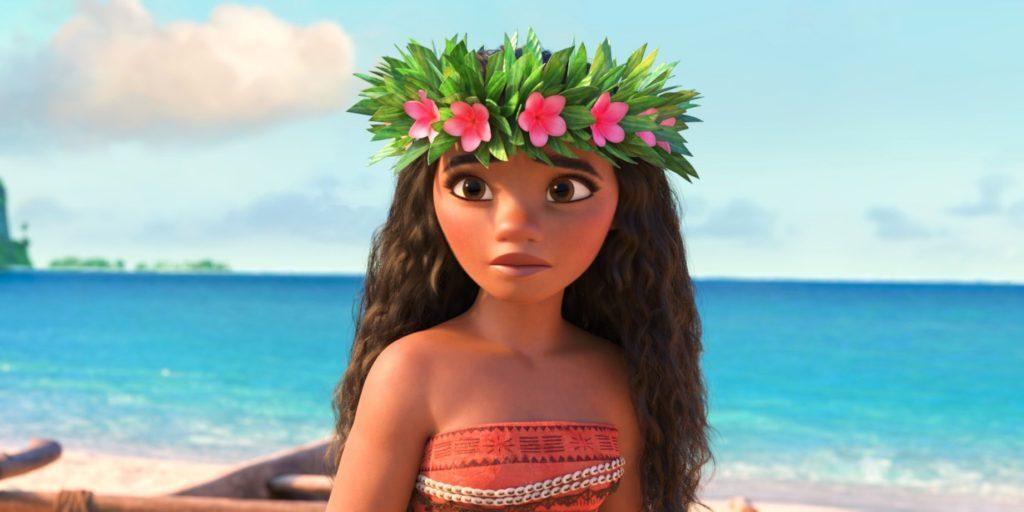 Cena do filme – Moana e sua coroa de flores