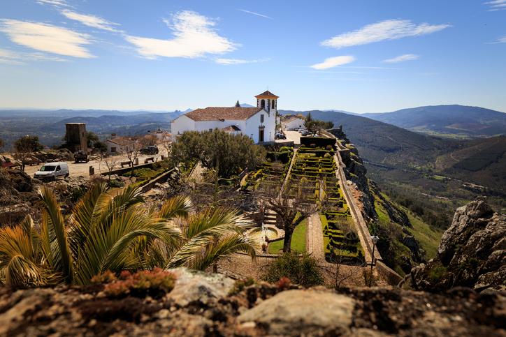 Vista do castelo de Marvão, na região do Alentejo