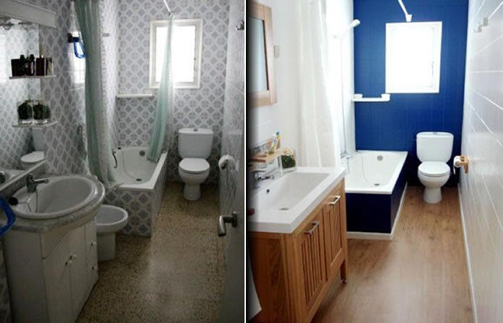 Solu o econ mica para renovar os azulejos do banheiro ou - Cocinas con azulejos pintados ...