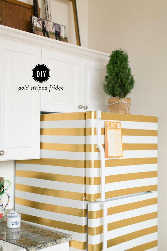 Como deixar a geladeira com cara de nova usando papel contact - Escaleras caracol baratas ...