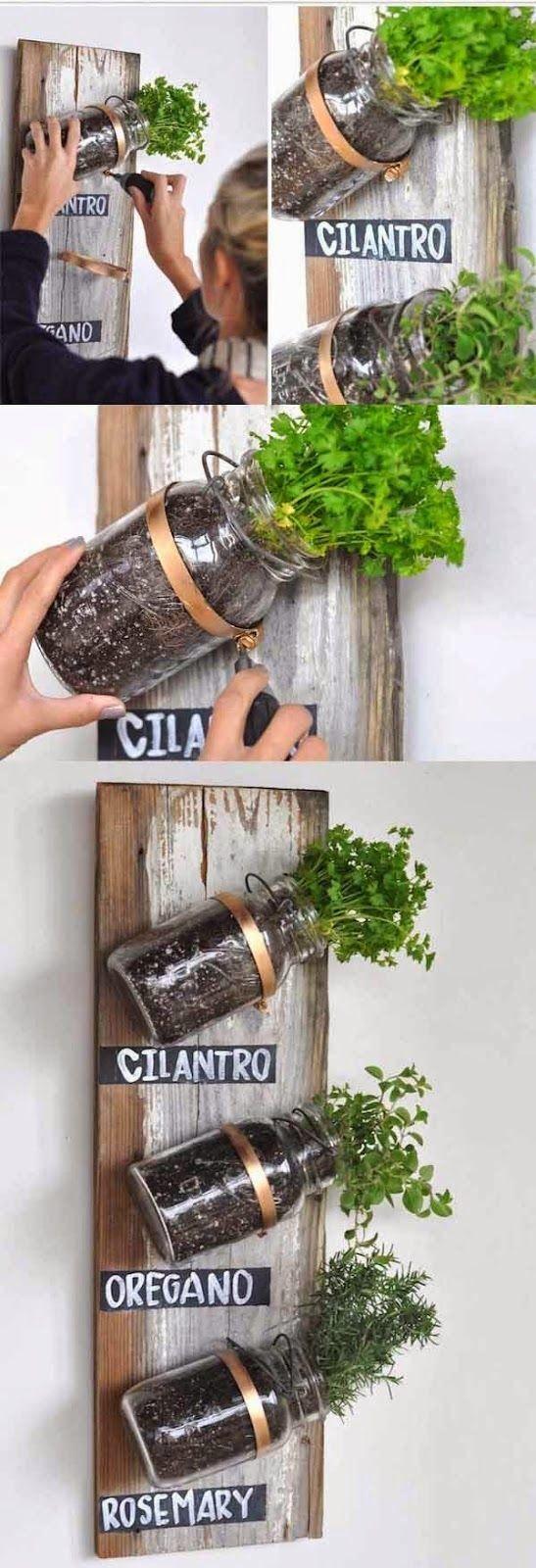 mini jardim ervas aromaticasIdeias de mini vasos improvisados para
