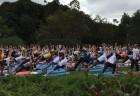 Instrutores do método DeRose ministram open classes no Parque do Ibirapuera.