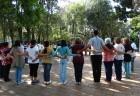 Dança circular no Parque do Ibirapuera