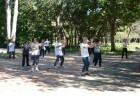 Prática de Tai Chi no Parque do Ibirapuera
