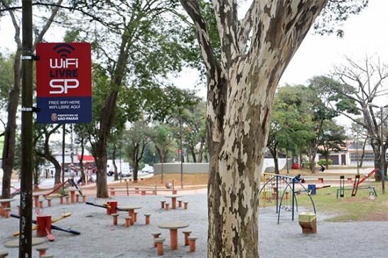 O programa WiFi Livre SP atualmente está disponível em 120 pontos na cidade