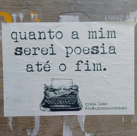 Poesia fotografada pela leitora @isteroliveira