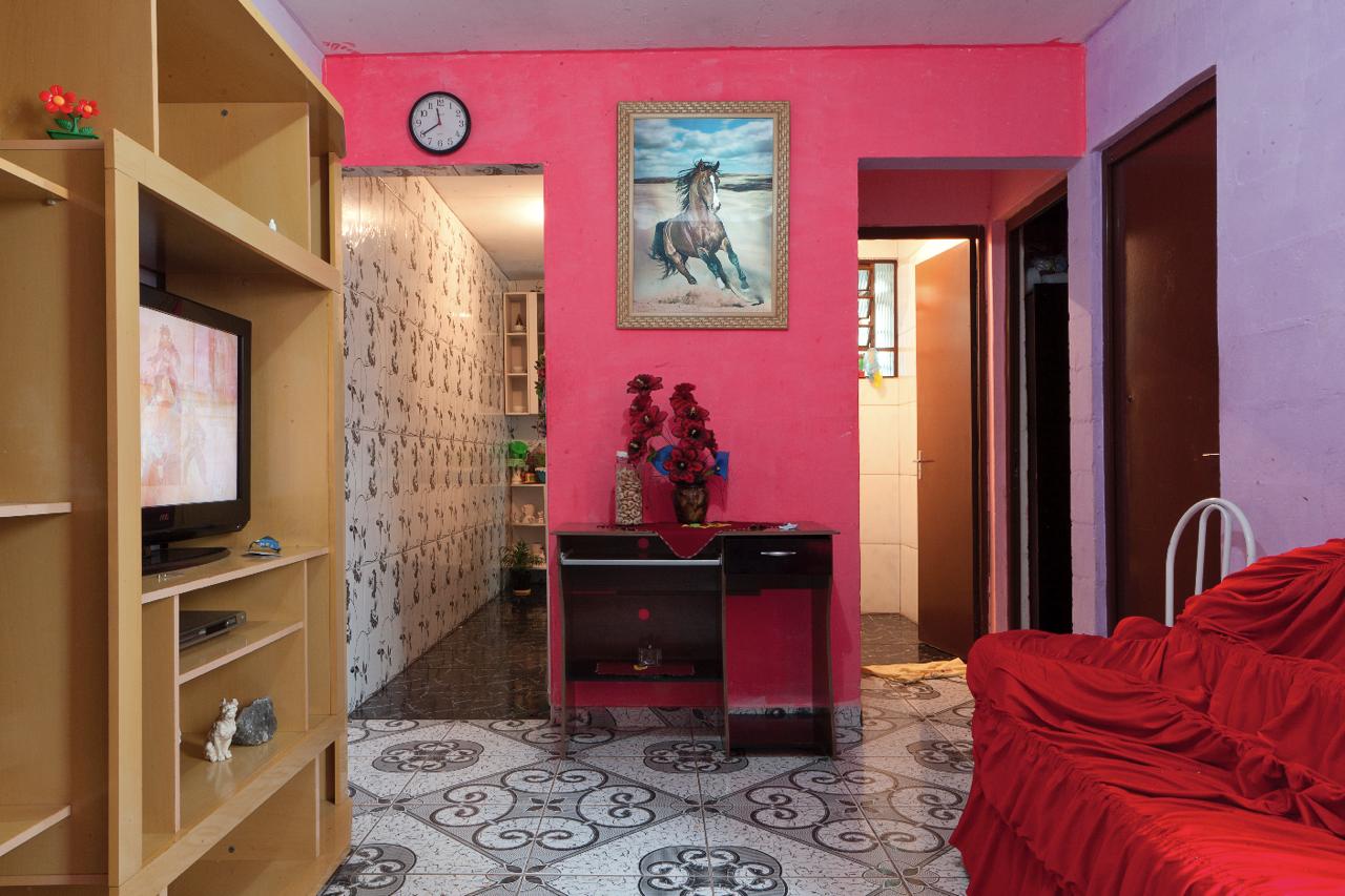 Sala de estar de apartamento do programa Minha Casa, Minha Vida