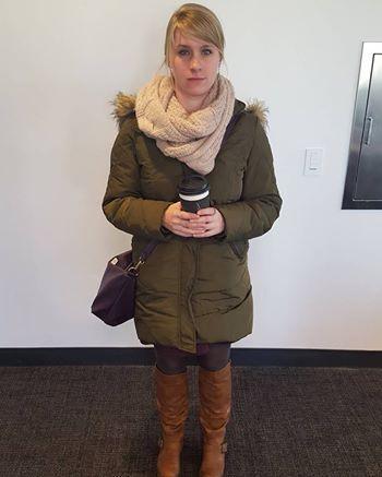 A nova-iorquina Christen Brandt, que questiona assédio masculino