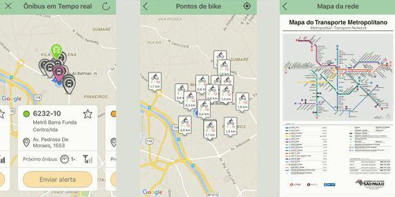 Ônibus em tempo real, pontos de bike e mapa do metrô são algumas das funcionalidades do Leve-Me