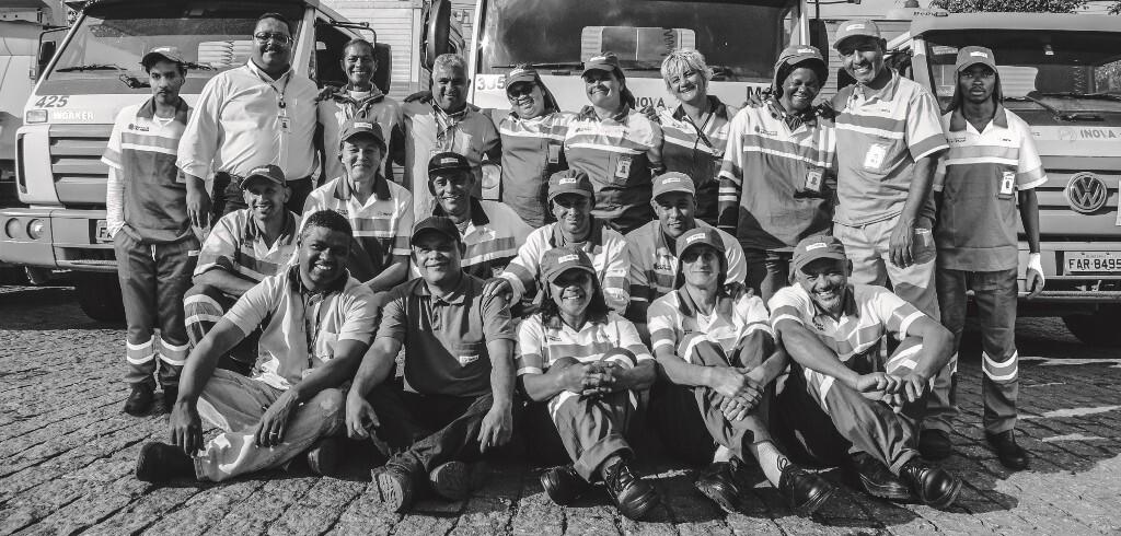 Trabalhadores da INOVA que contam suas histórias no livro