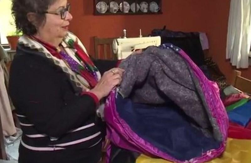 Pedagoga reaproveita pedaços de tecido que costumam ir para o lixo