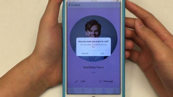 Aplicativo avisa quando usuário tenta telefonar para a mesma pessoa em pouco tempo