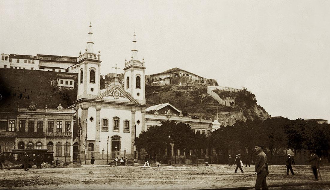 Foto do Morro do Castelo, no Rio de Janeiro