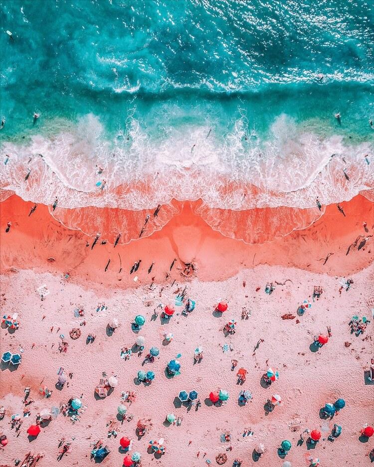 Praia em camadas