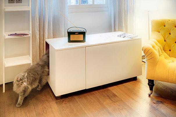 Móvel com cama para gato