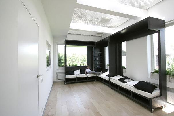 21 ideias para transformar pequeno espa o em um ambiente for Sofa que se transforma em beliche