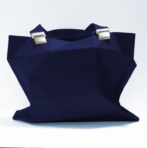 Bolsa Feminina Azul Marinho : As bolsas geom?tricas da tissu